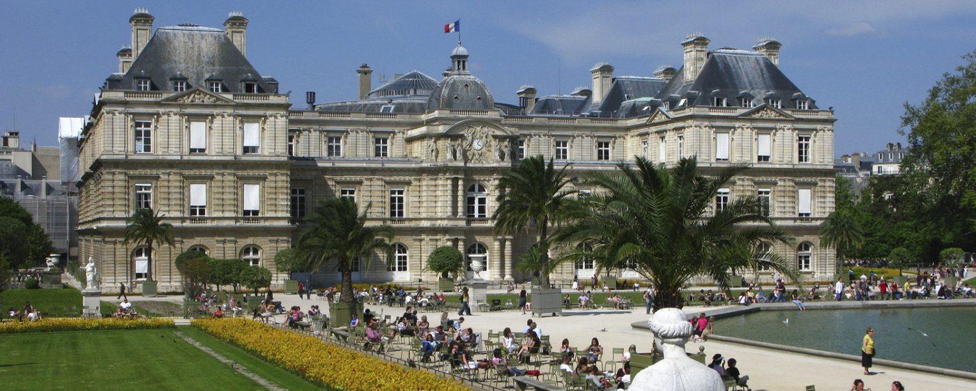 building in Paris, Jardin de Luxembourg