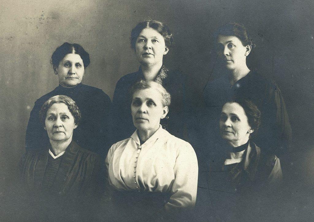 Antique photo of six women