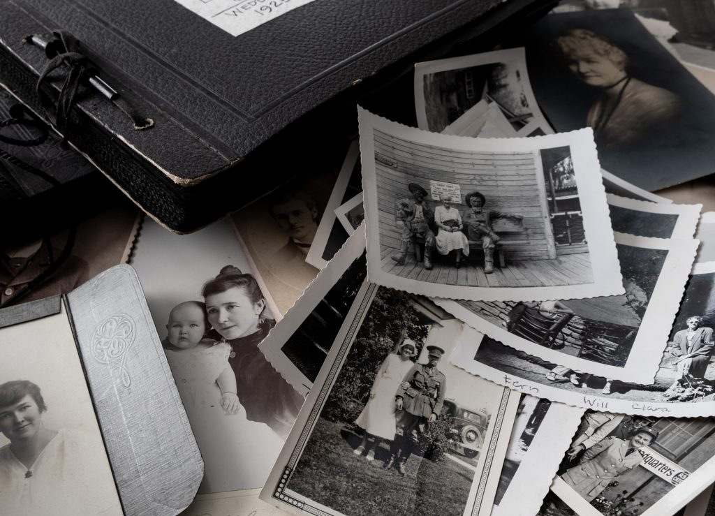 Old photos and antique photo albums