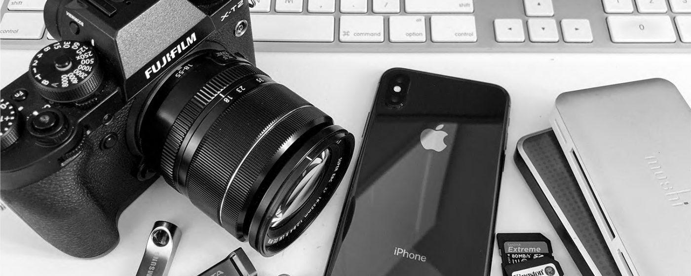 Still life of digital cameras
