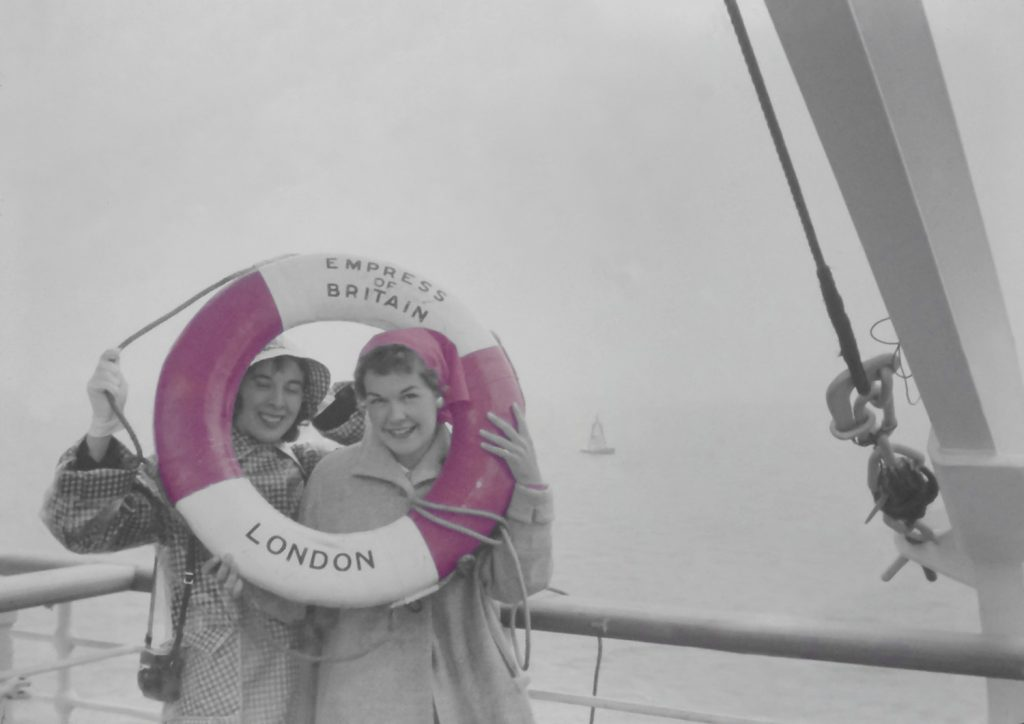 Two Women on Boat to London