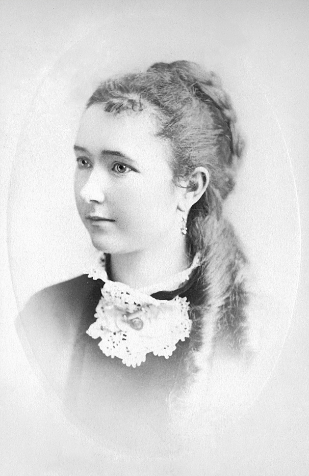 Antique picture of young woman