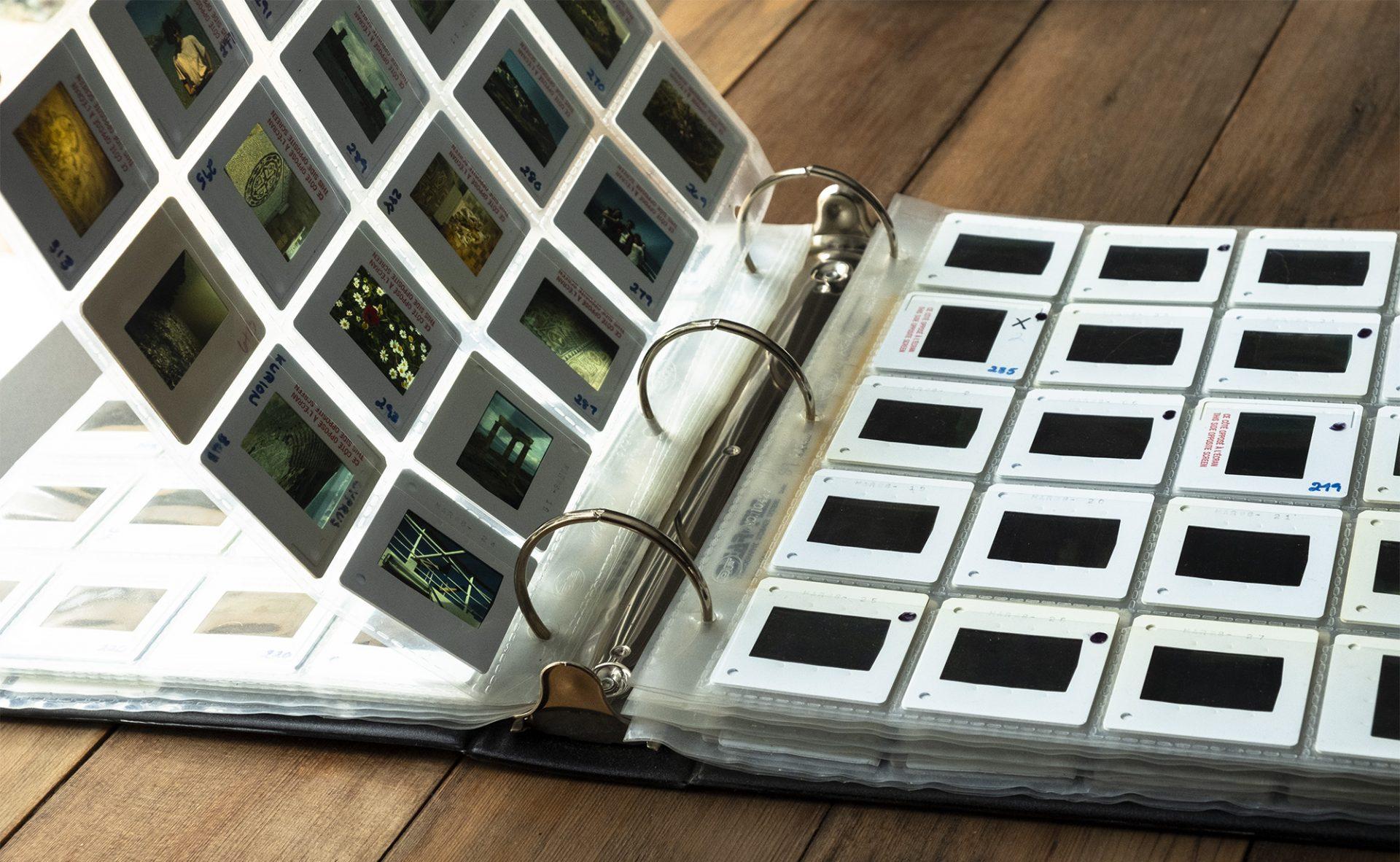 slide holders in binder